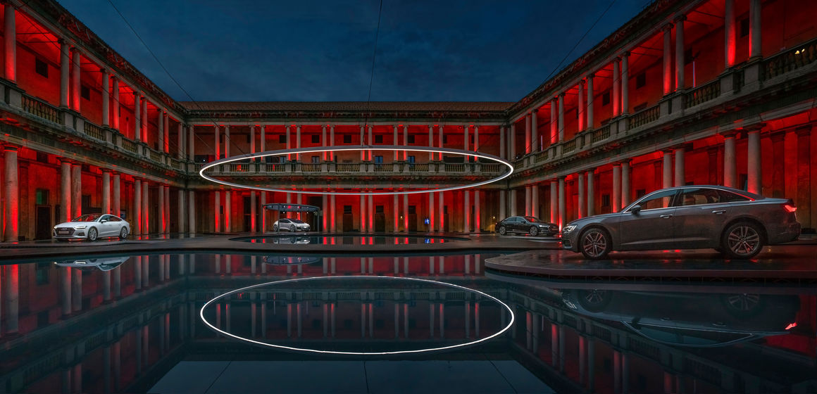 """Audi presents installation """"Fifth Ring"""" of MAD Architects at Milan Design Week"""