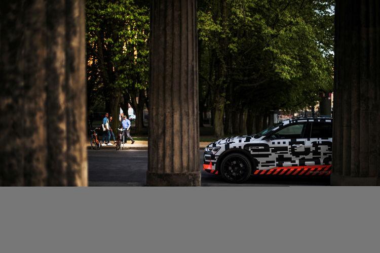 Audi e-tron prototype driving in Berlin