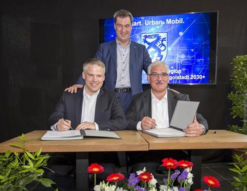 """Stadt Ingolstadt und Audi unterzeichnen """"Letter of Intent"""" für die urbane Mobilität der Zukunft"""