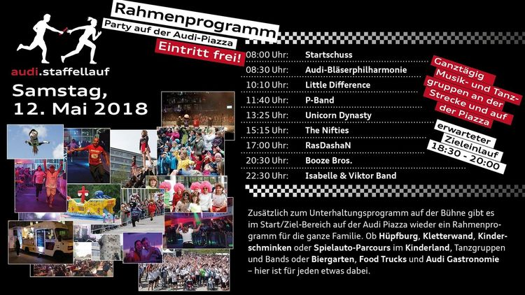 Programm audi.staffellauf 2018