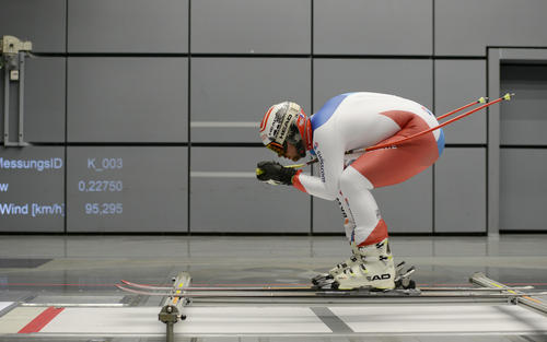Swiss Ski Team test in Audi wind tunnel