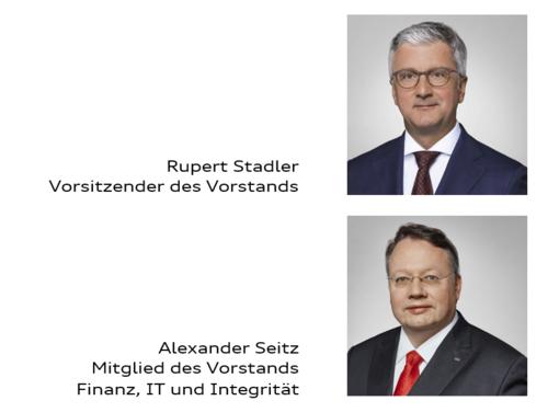 Vorstandsmitglieder der AUDI AG, Redner auf der Hauptversammlung 2018