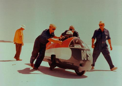 61 Motorräder im Audi museum mobile
