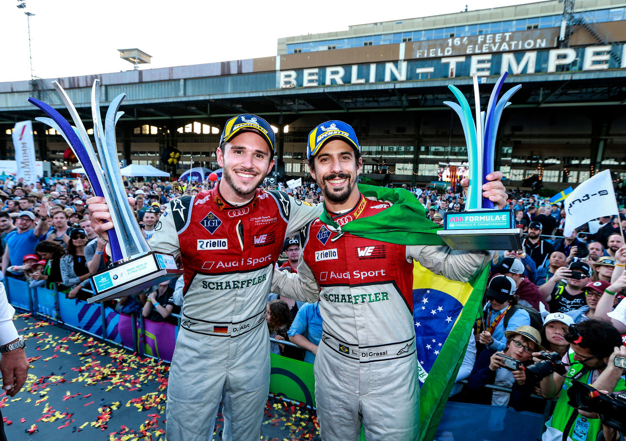 Audi electrifies Berlin: one-two finish in Formula E home race