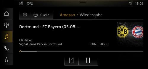 Audi connect jetzt mit Amazon Music und  Fußball-WM-Ticker