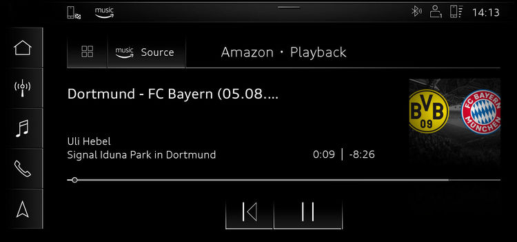 Audi connect now with Amazon Music and soccer World Cup ticker