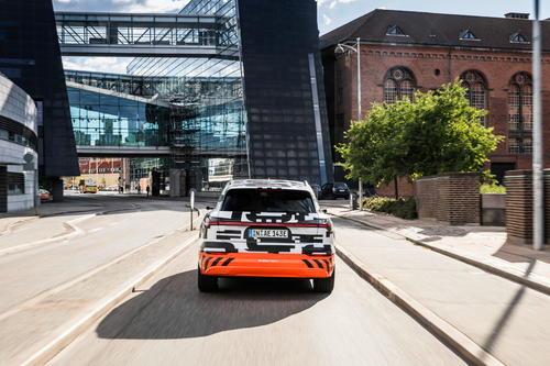 Der Audi e-tron-Prototyp in Kopenhagen