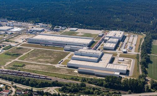 Audi-Standort Münchsmünster Luftaufnahme