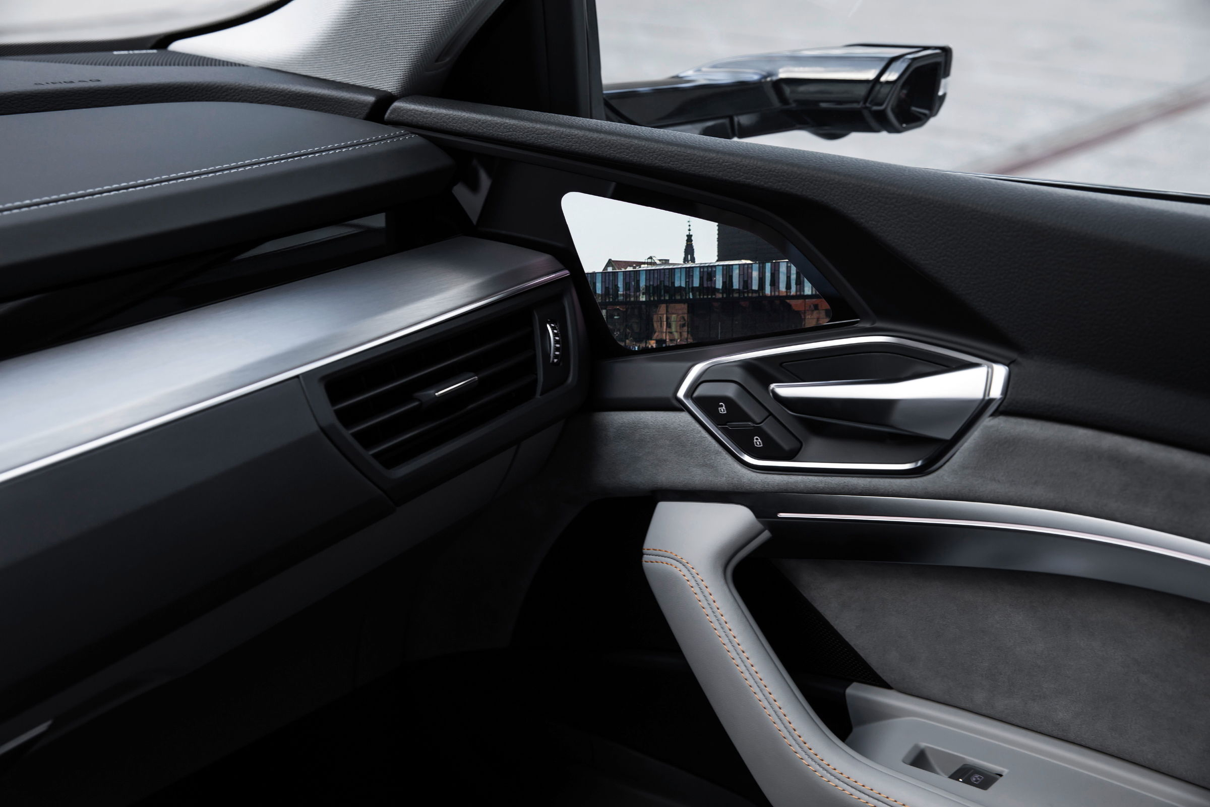 The interior of the Audi e-tron prototype