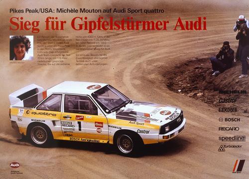 Audi mit legendären Rennwagen beim Eifel Rallye Festival in Daun