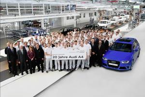 Produktionsjubiläum in der Audi-Mittelklasse: 20 Jahre Audi A4 am Standort Ingolstadt