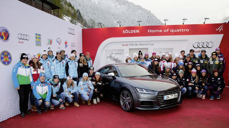 Die Nationalteams zu Gast bei Audi