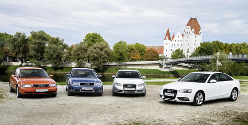Production jubilee in Audi's mid-sized range: 20 years of Audi A4 at Ingolstadt plant