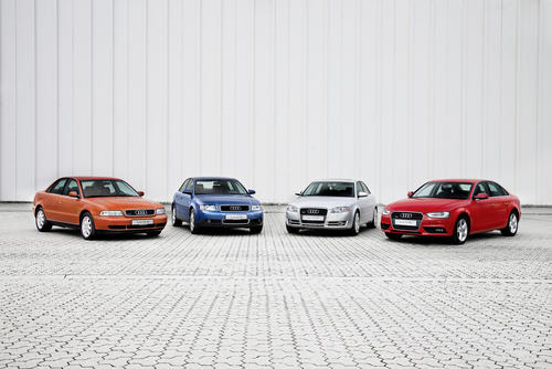 Production jubilee mid-sized range:  20 years of Audi A4 at Ingolstadt plant