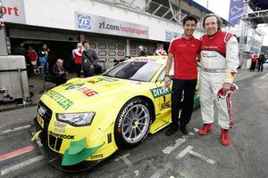 Günter Netzer am Steuer des Audi RS 5 DTM