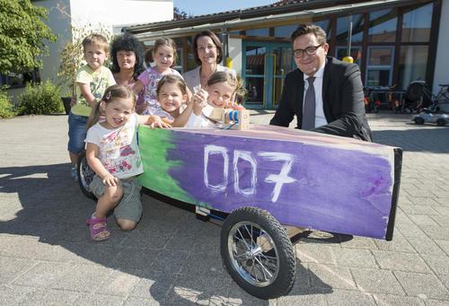 Audi Beschaffung: 38 Seifenkisten für regionale Kindergärten