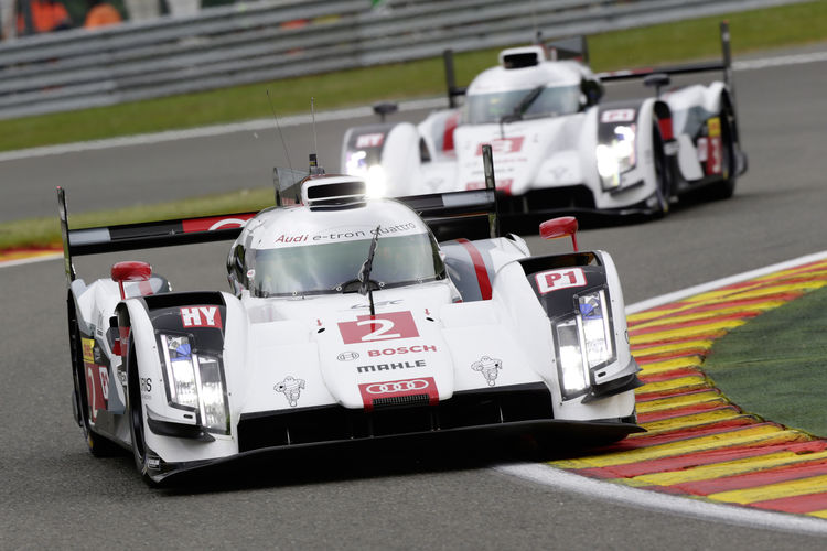 Audi mit solider Ausgangsposition in Spa