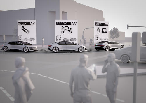 """Audi study """"25th Hour – Flow"""": No Congestion in the City of the Future (Example City Ingolstadt)"""