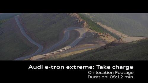 AUDI e-tron prototype extreme: Pikes Peak recuperation Footage