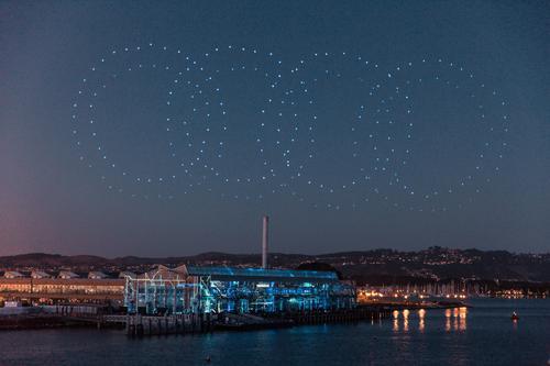 Audi hosts Intel drone light shows to celebrate e-tron world premiere
