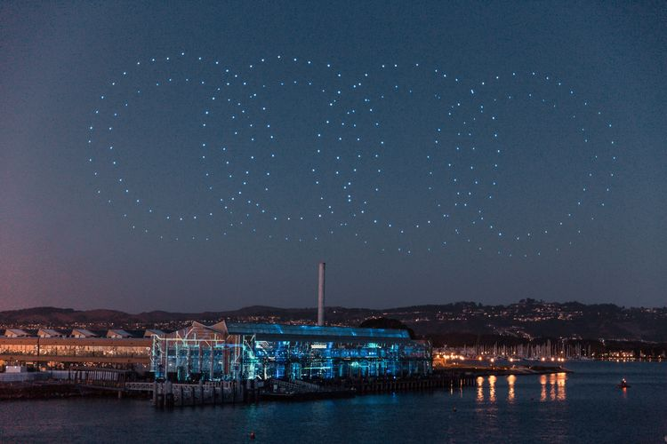 Audi hosts Intel drone light shows to celebrate e-tron world premiere