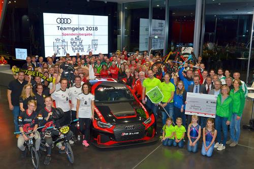Audi spendet 60.000 Euro für Sportvereine der Region Ingolstadt