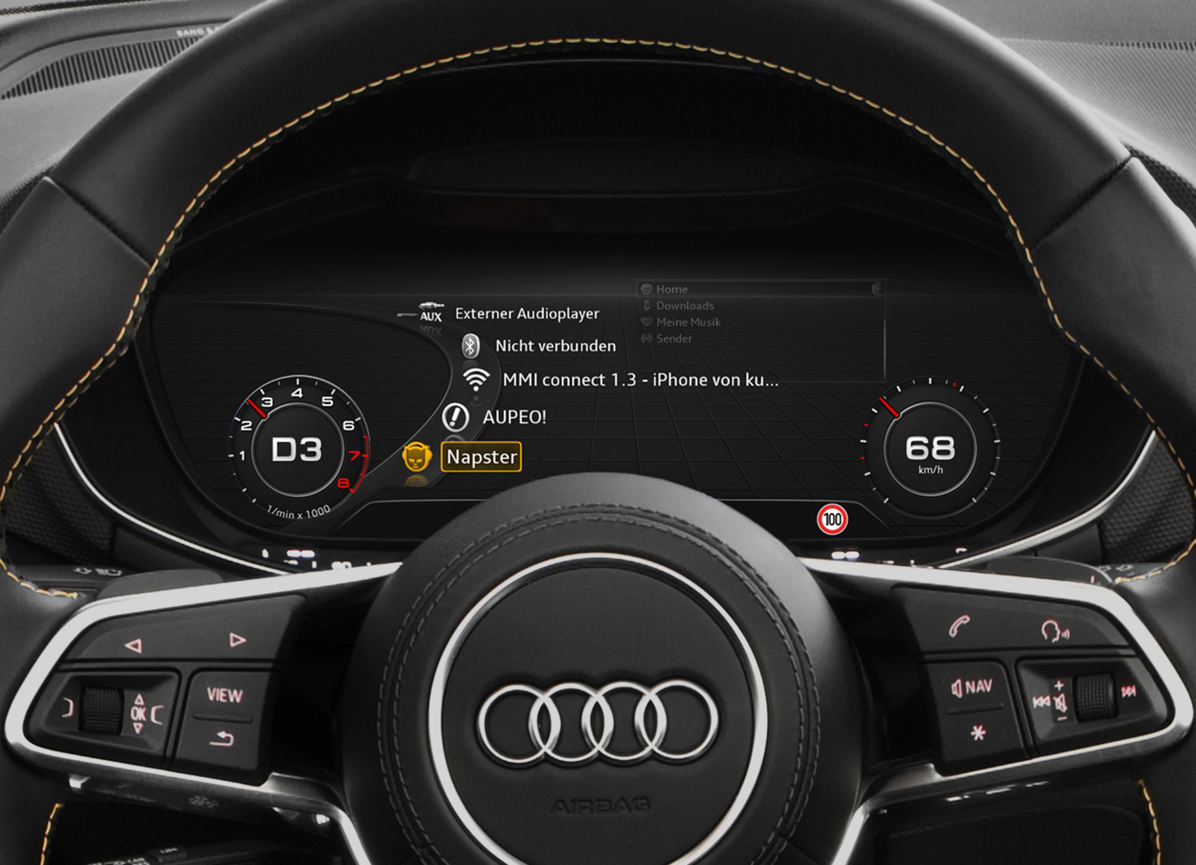 Music from the Internet –  online media streaming from Audi connect