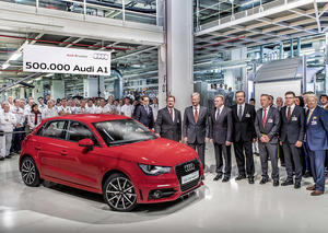Jubilee in Brussels: 500,000th Audi A1