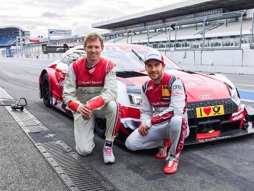 DTM trifft Fußball: Trainer Nagelsmann Co-Pilot im Audi RS 5 DTM