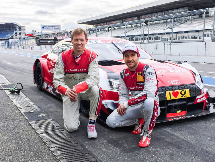"DTM meets soccer: Coach Nagelsmann as ""co-driver"" in Audi RS 5 DTM"