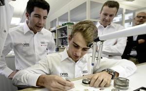 Audi-Piloten besuchen Uhrenpartner Oris