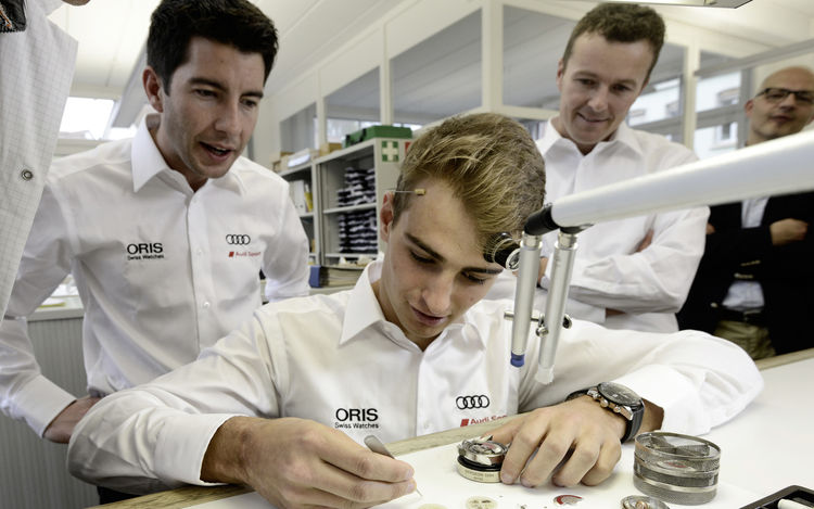Audi drivers visit watch partner Oris