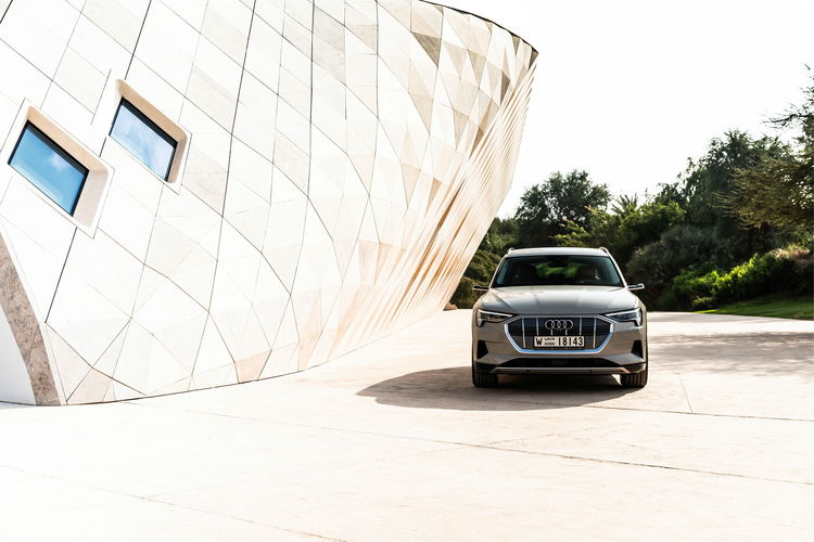 The Audi e-tron at Masdar City
