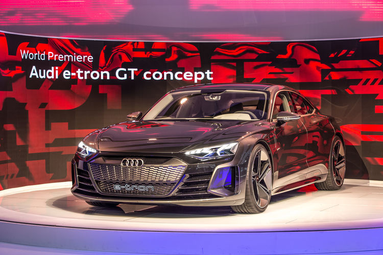 World premiere of the Audi e-tron GT concept at the Los Angeles Auto Show 2018