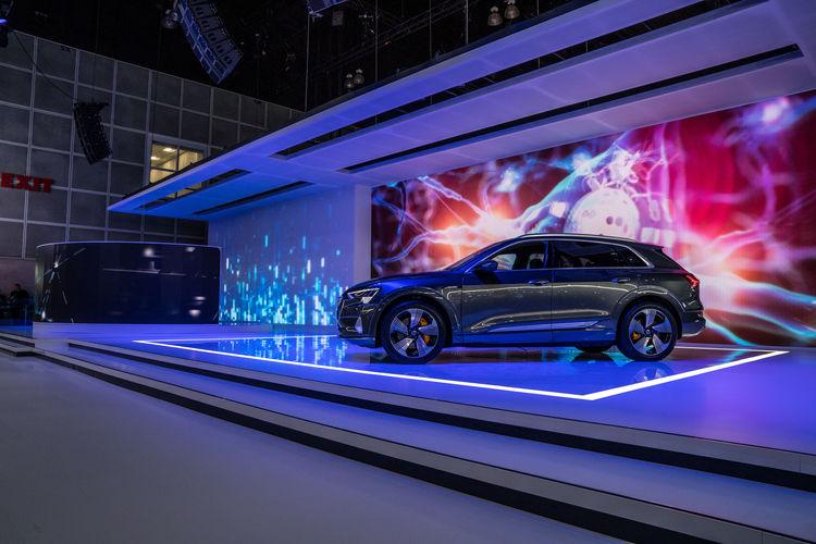 World premiere of the Audi e-tron GT concept at the Los Angeles Auto Show 2018