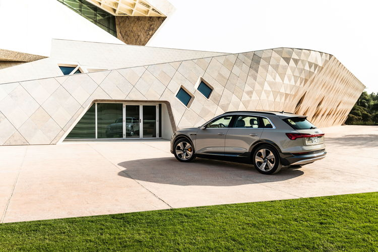 The Audi e-tron at Masdar City