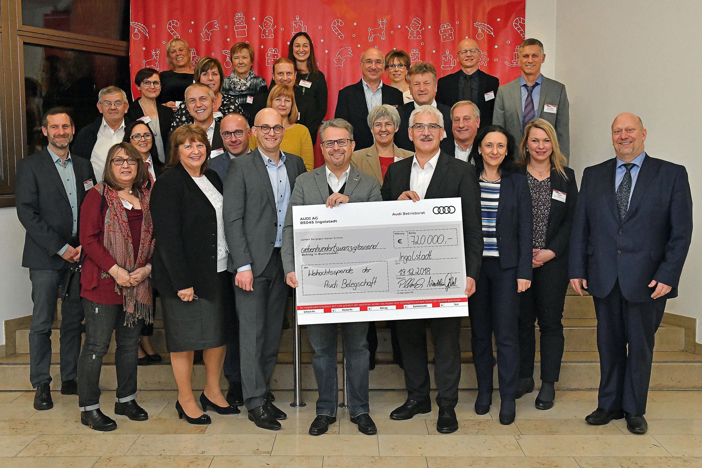 Für die Region: Audianer spenden 720.000 Euro