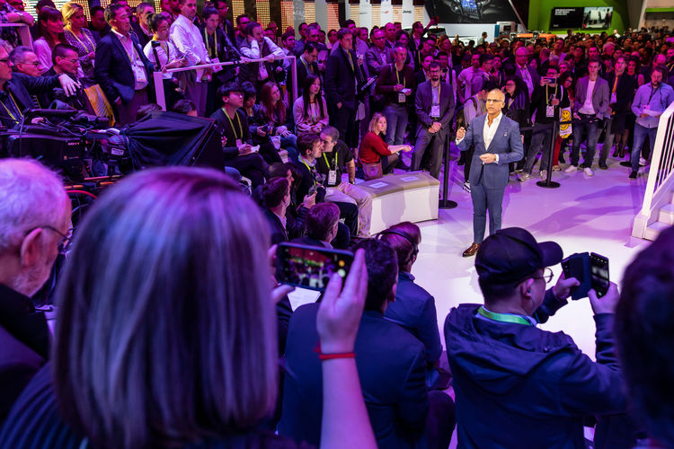 Audi Press conference at the CES 2019