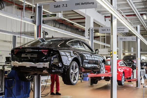 RS Manufacturing of quattro GmbH at the Neckarsulm site