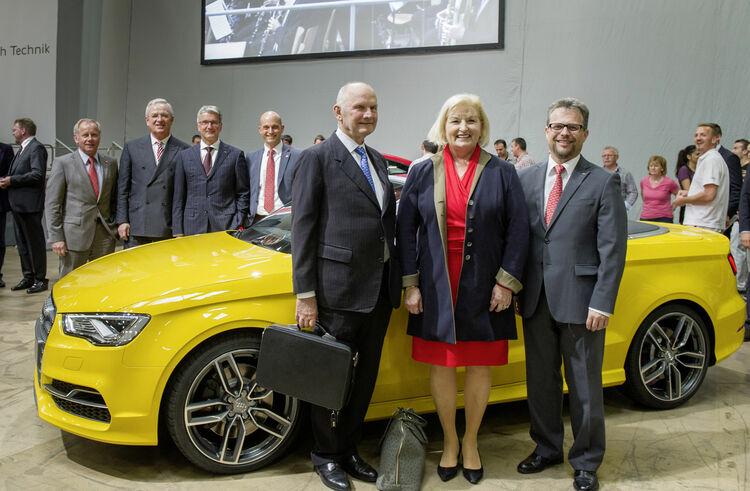Hoher Besuch bei der  Audi-Betriebsversammlung