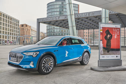 Audi will drive the stars all-electric in the Audi e-tron to the red carpet at the 69th Berlin International Film Festival