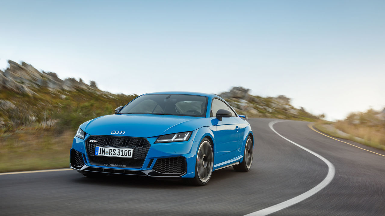 Compact Sports Cars In Peak Form The New Audi Tt Rs Coupe And The New Audi Tt Rs Roadster Audi Mediacenter