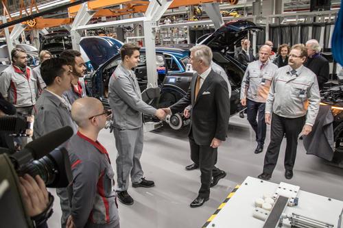 Königlicher Besuch bei Audi Brussels