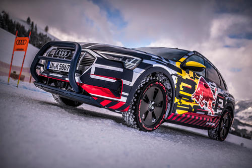 Audi e-tron Technology demonstrator on the Streif