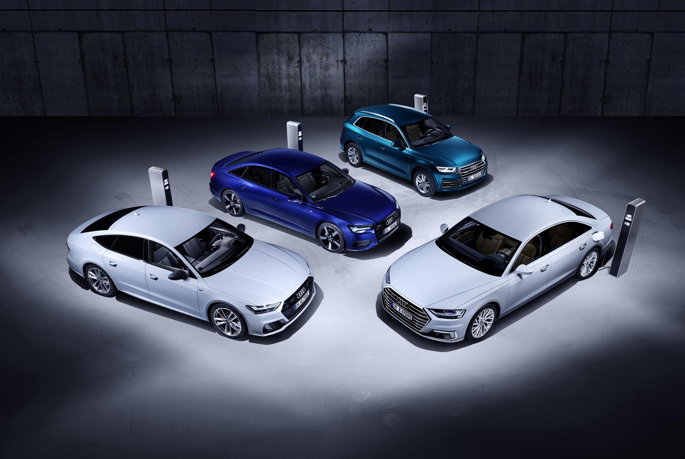 Audi Q5, A6, A7 und A8
