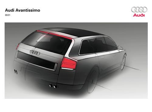 Audi Avantissimo - Design-Skizze