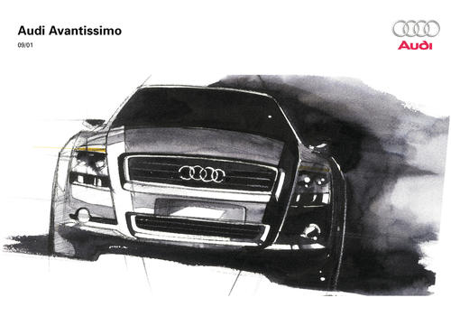 Audi Avantissimo - Design sketch