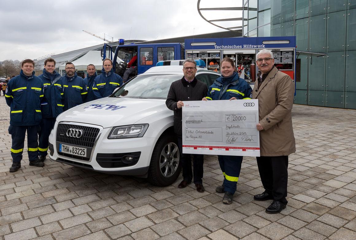 Audi unterstützt THW mit 20.000 Euro