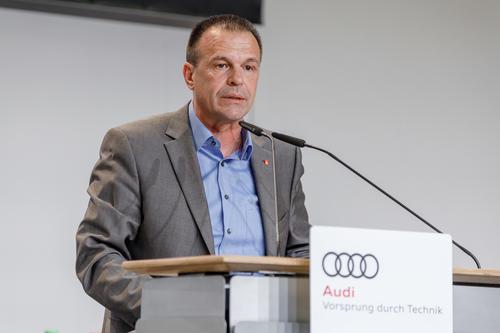 Erste Betriebsversammlung am Audi-Standort Neckarsulm