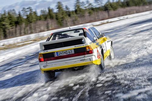 Stig Blomqvist, Rallye-world champion 1984, in Sport quattro Rallye